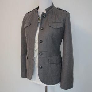 BANANA REPUBLIC Size 12P Gray Jacket Coat